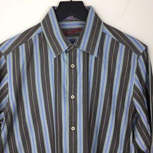 Robert Graham Button Down Flip Cuff Shirt M